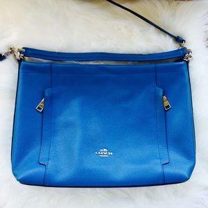 Coach Blue Leather Crossbody / Carry / Hobo Purse